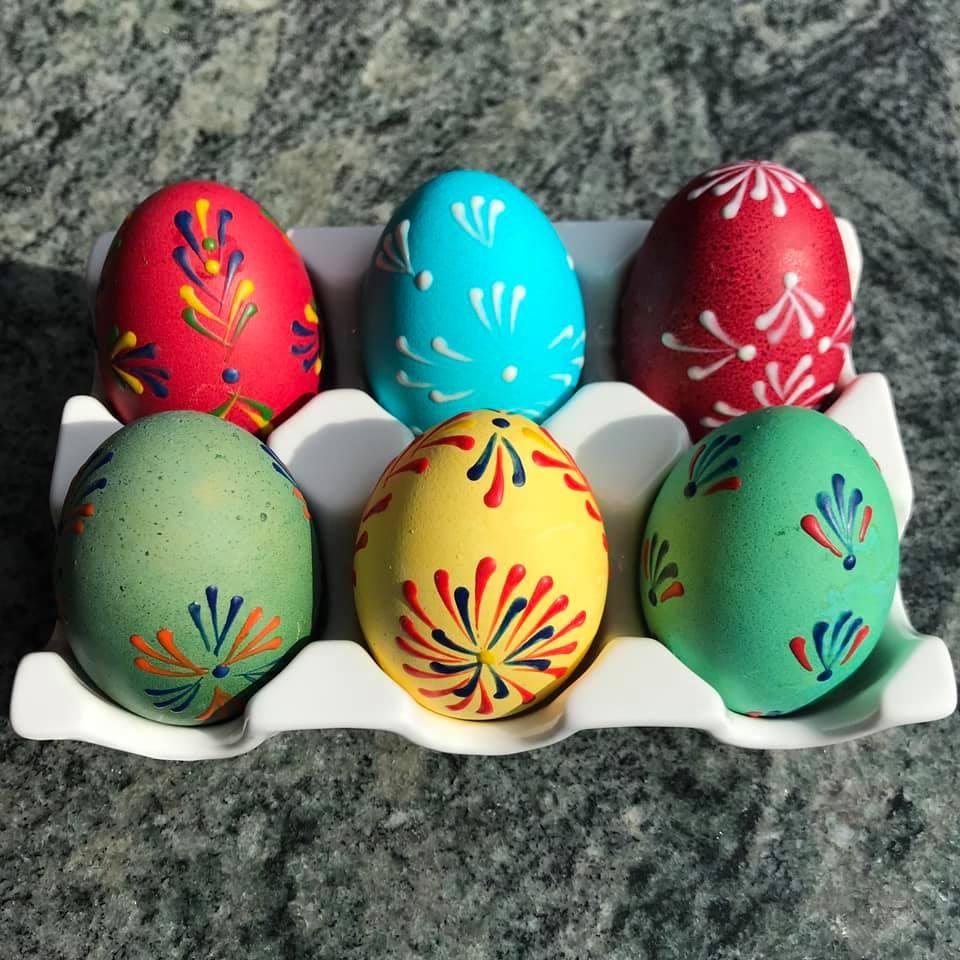 vajíčka voskem